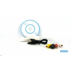 USB 2.0 Video TV Tuner DVD Audio Adaptér pro konverzi zachytných karet pro Win7 / 8