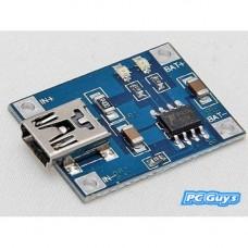 5V nabíječka lithiové baterie Mini USB 1A Nabíjecí modul 3285
